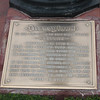 The dedication plaque in the middle of Main Street Square.