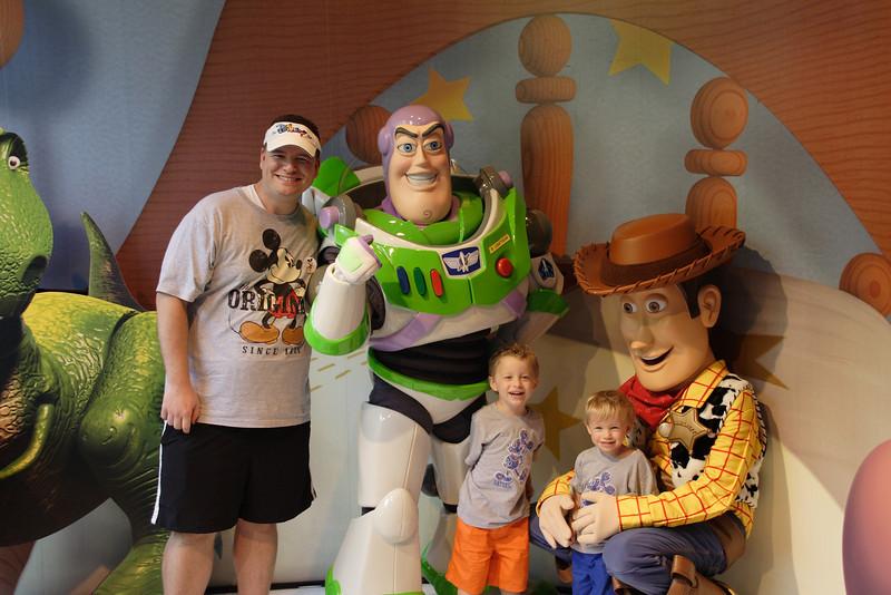 Kind of a weird way to hug a kid, huh Woody?
