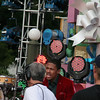 Nick Cannon was also there taping the parade