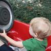 Jon driving the go-carts