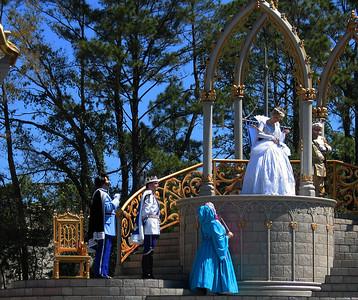 Prince Charming, Cinderella, Fairy Godmother, etc. Cinderellabration (sp?)