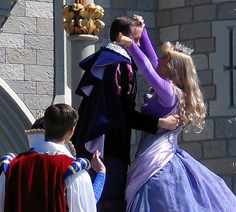Prince Charming and Cinderella in the Cinderellabration (sp?)