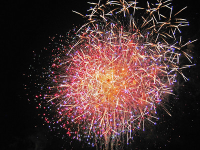 Fireworks from the Contemporary rooftop (reprint)