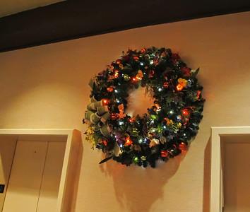 Contemporary Christmas wreath