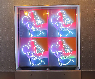 Mickey, iconic Contemporary lighted sign