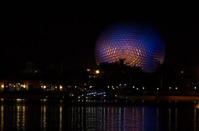 EPCOT Visit - Spaceship Earth Across World Showcase Lagoon