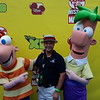 Hanging out with Phineas and Ferb before the D23 Expo