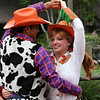 A pair of dancers at the Magic Kingdom park.