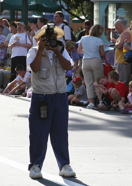 A Disney Photographer at work.