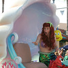 A surprised mermaid in a Disney Parade.