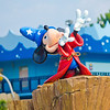 """Sorcerer Mickey """"conducts"""" fountains at All Star Movies' pool. Which Value Resort is your favorite?"""