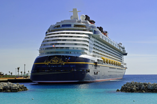The Disney Dream docked at Castaway Cay