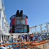 The upper deck on the Disney Dream.
