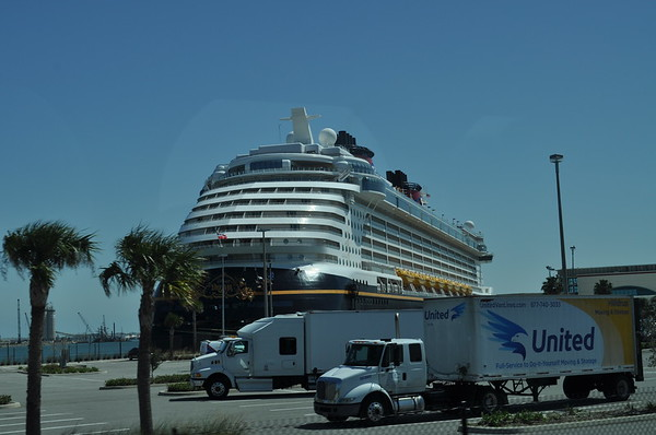 The Disney Dream docked at Port Canveral
