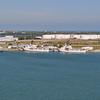 US Coast Guard ships docked at Port Canaveral.