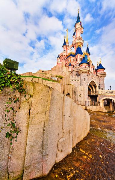 Disneyland Resort ParisParc DisneylandSleeping Beauty CastleA view from one of the many winding pathways around Sleeping Beauty Castle. For more Disneyland Paris tips and information, visit: http://www.disneytouristblog.com/tag/disneyland-paris/