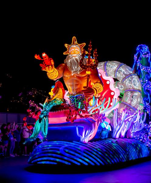 Disney's Paint the NIght Parade at California Adventure