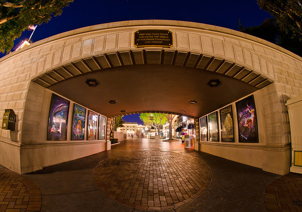 """The attraction posters that line the walls of the tunnel under the train tracks leading into Disneyland. <br /> <br /> Disney recently released an awesome book of these posters: <a href=""""http://www.disneytouristblog.com/poster-art-book-review/"""">http://www.disneytouristblog.com/poster-art-book-review/</a>"""