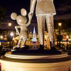 <b>Disneyland Resort Disneyland (park) Main Street, USA</b>  Mickey Mouse and Walt Disney look towards Main Street, USA as the Christmas tree peeks out between them.   For more tips, information, and photos of Disneyland, visit my blog: http://www.disneytouristblog.com/