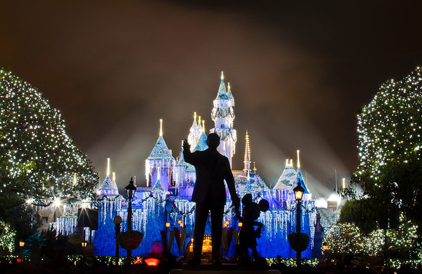 <b>Disneyland Resort Disneyland (park) Sleeping Beauty's Winter Castle</b>  With the trees in the hub twinkling and the lights on Sleeping Beauty Castle, it is at its most beautiful!  For more tips, information, and photos of Disneyland, visit my blog: http://www.disneytouristblog.com/