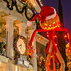 "<b>Disneyland Resort Disneyland (park) Haunted Mansion Holiday</b>  So much detail outside Haunted Mansion Holiday. The clock, candles, and ""scarecrow"" Santa are my favorites!   For more tips, information, and photos of Disneyland, visit my blog: http://www.disneytouristblog.com/"