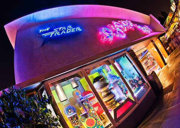 """Mickey's Star Traders at Disneyland has an awesome neon marquee!<br /> <br /> Need assistance planning a trip to Disneyland? Read our comprehensive tips:  <a href=""""http://www.disneytouristblog.com/disneyland-first-time-visit-2012/"""">http://www.disneytouristblog.com/disneyland-first-time-visit-2012/</a>"""