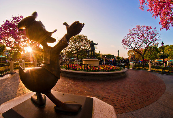 "Sunrise photo of Disneyland, captured during ""One More Disney Day,"" the Leap Day 2012 event!"