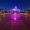"When the crowds have cleared, a Compass Rose is visible on the ground in front of Sleeping Beauty Castle at Disneyland. Photo taken with a Rokinon 8mm fisheye lens.<br /> <br /> Lens review: <a href=""http://www.disneytouristblog.com/8mm-fisheye-samyang-rokinon-lens-review/"">http://www.disneytouristblog.com/8mm-fisheye-samyang-rokinon-lens-review/</a>"