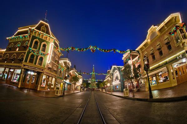 <b>Disneyland Resort Disneyland (park) Main Street, USA</b>  Christmas on an after-hours Main Street, USA...does it get any better than Disney after dark?!   For more tips, information, and photos of Disneyland, visit my blog: http://www.disneytouristblog.com/