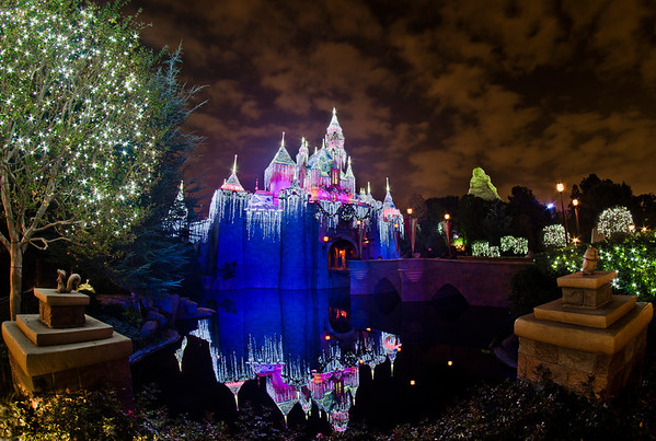 """<b>Disneyland Resort Disneyland (park) Sleeping Beauty's Winter Castle</b>  Is it odd to anyone else that the names of the various Disney castles are not normally possessive (i.e. the correct name is Cinderella Castle, not Cinderella's Castle), but the name for the Christmas """"version"""" of Sleeping Beauty Castle is, in fact, the possessive Sleeping Beauty's Winter Castle?  For more tips, information, and photos of Disneyland, visit my blog: http://www.disneytouristblog.com/"""