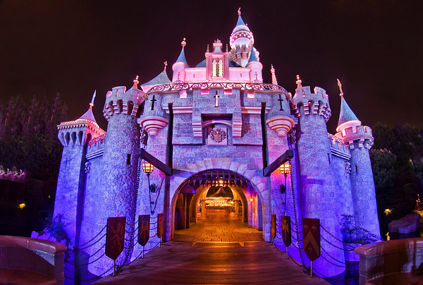 """Sleeping Beauty Castle normally looks smaller and more quaint than Cinderella Castle, but here I used a wide angle lens to make it look larger than life! <br /> <br /> See tons more photos from this, our first Disneyland trip here: <a href=""""http://www.disneytouristblog.com/disneyland-disney-california-adventure-august-2010-trip-report/"""">http://www.disneytouristblog.com/disneyland-disney-california-adventure-august-2010-trip-report/</a>"""