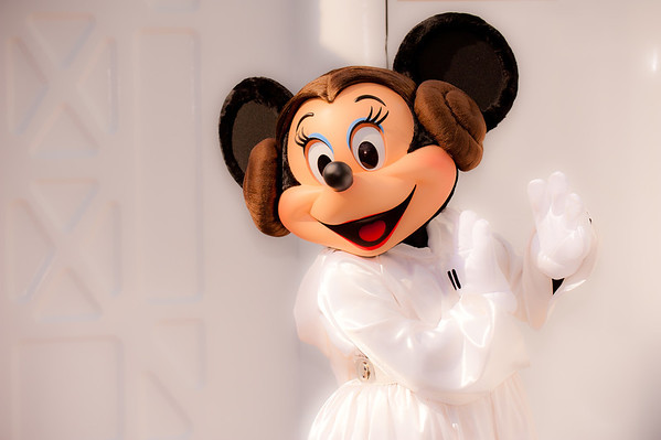 "Leia, protrayed here by Minnie Mouse, is the newest Disney Princess! <br /> <br /> Read about Star Wars Weekends: <a href=""http://www.disneytouristblog.com/star-wars-weekends-tips-photos/"">http://www.disneytouristblog.com/star-wars-weekends-tips-photos/</a>"