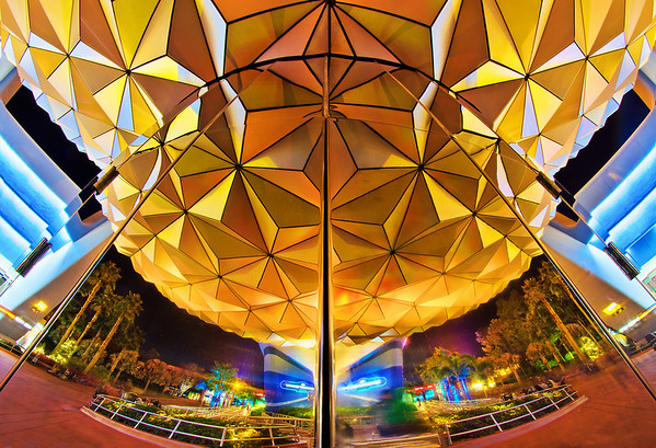 <i>Reflections of (Spaceship) Earth</i> - Spaceship Earth at Epcot reflected in itself.  Check out my unique Spaceship Earth ride-through video: http://www.youtube.com/watch?v=0HzRH49vy5c