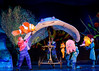 Nemo and Mr. Ray in Finding Nemo, The Musical at Disney World's Animal Kingdom.
