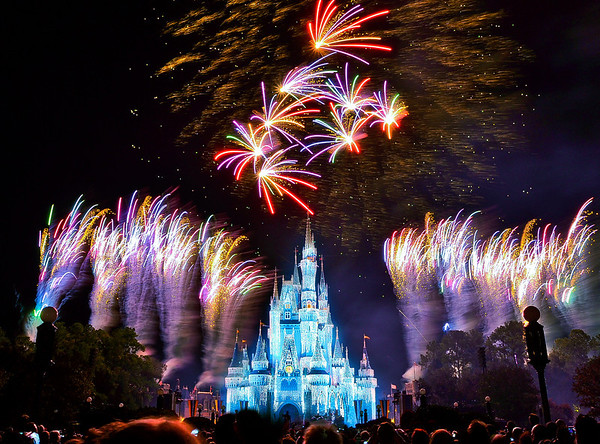 <b>Walt Disney World Resort Magic Kingdom Holiday Wishes Fireworks</b>  Normally, these fireworks are shown during Mickey's Very Merry Christmas Party (a hard ticket event) at night in the Magic Kingdom. However, the week before Christmas and the week between Christmas and New Year's Eve, all guests can see Holiday Wishes for no extra charge.   More information, tips, and planning information for Christmas at Walt Disney World: http://www.disneytouristblog.com/disney-world-christmas-ultimate-guide/