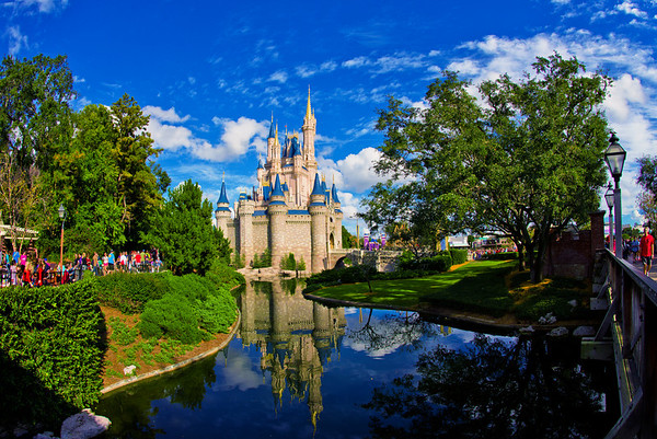 "Cinderella Castle photographed with the Nikon 16mm f/2.8 fisheye.<br /> <br /> Lens: <a href=""http://amzn.to/14V9KN2"">http://amzn.to/14V9KN2</a>"