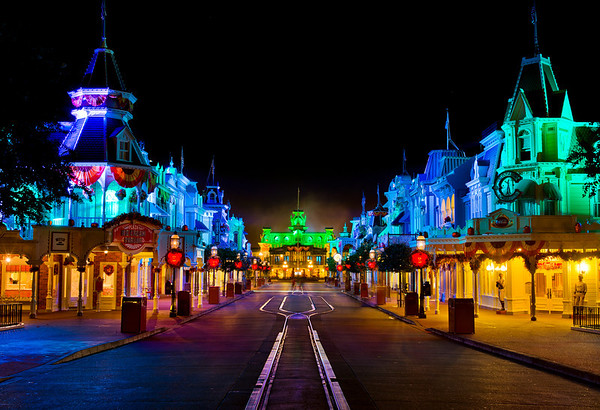"""Empty Main Street after the end of a Mickey's Not So Scary Halloween Party.<br /> <br /> MNSSHP Tips: <a href=""""http://www.disneytouristblog.com/mickeys-not-so-scary-halloween-party-review-tips/"""">http://www.disneytouristblog.com/mickeys-not-so-scary-halloween-party-review-tips/</a>"""