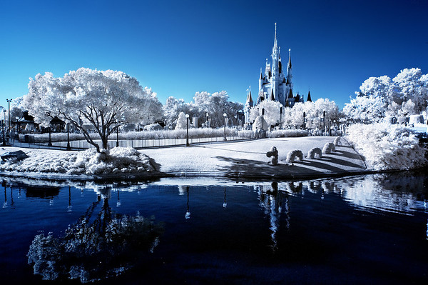 "Infrared photo of the Magic Kingdom at Walt Disney World. <br /> <br /> Tips for getting into infrared photography: <a href=""http://www.disneytouristblog.com/infrared-photography-guide-tips/"">http://www.disneytouristblog.com/infrared-photography-guide-tips/</a>"