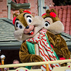 <b>Walt Disney World Resort Magic Kingdom Mickey's Once Upon A Christmastime Parade</b>  Here are Christmas Chip & Dale! Usually this parade is show during Mickey's Very Merry Christmas Party (a hard ticket event) at night in the Magic Kingdom. However, the week before Christmas and the week between Christmas and New Year's Eve, it's shown during the day, for free!   More information, tips, and planning information for Christmas at Walt Disney World: http://www.disneytouristblog.com/disney-world-christmas-ultimate-guide/