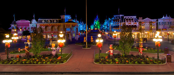 <b>Walt Disney World Magic Kingdom Mickey's Not So Scary Halloween Party</b> <p><p> Closing time falls over the Creepy Kingdom at the end of the Halloween Party.  <p><p> Read More: http://www.disneytouristblog.com/mickeys-not-so-scary-halloween-party-review-tips/
