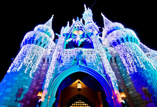 <b>Walt Disney World Resort Magic Kingdom Cinderella Castle Icicle Dream Lights</b>  Looks so beautiful this time of year!    More information, tips, and planning information for Christmas at Walt Disney World: http://www.disneytouristblog.com/disney-world-christmas-ultimate-guide/