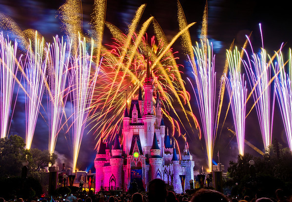 Start your weekend off with a BANG with this photo of Wishes! over Cinderella Castle!