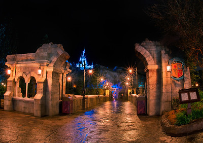 The entrance to Be Our Guest Restaurant in New Fantasyland at Walt Disney World. Do you think Beast destroyed the rest of that archway?   For more information about this restaurant, read our review: http://www.disneytouristblog.com/be-our-guest-restaurant-lunch-review/