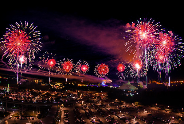 """Walt Disney World's Fantasy in the Sky fireworks as seen from Bay Lake Tower. <br /> <br /> Read our BLT review: <a href=""""http://www.disneytouristblog.com/bay-lake-tower-review/"""">http://www.disneytouristblog.com/bay-lake-tower-review/</a>"""