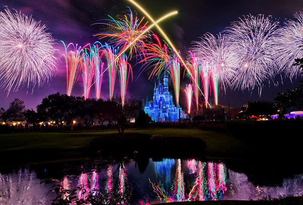 "The finale of Holiday Wishes, the fireworks show during Mickey's Very Merry Christmas Party, features perimeter bursts that all around Cinderella Castle!<br /> <br /> More on Mickey's Very Merry Christmas Party:  <a href=""http://www.disneytouristblog.com/mickeys-very-merry-christmas-party-review-tips/"">http://www.disneytouristblog.com/mickeys-very-merry-christmas-party-review-tips/</a>"