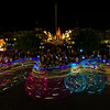 <b>SpectroMagic Night Parade Long Exposure Photo</b>  Walt Disney World's SpectroMagic! parade shot as a long exposure in 2009. SpectroMagic! is rumored to return to Walt Disney World in 2013.