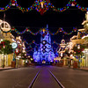 Christmas on an empty Main Street, USA!