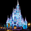 <b>Walt Disney World Resort Magic Kingdom Cinderella Castle Icicle Dream Lights</b>  Is there any more beautiful sight in the world than Cinderella Castle with its Dream Lights all lit up and the Partners statue in front of it?  More information, tips, and planning information for Christmas at Walt Disney World: http://www.disneytouristblog.com/disney-world-christmas-ultimate-guide/