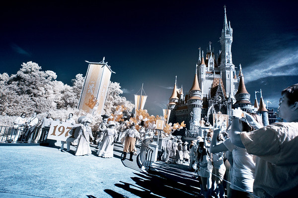 """Infrared photo of Walt Disney World's 40th Anniversary Celebration in 2011. <br /> <br /> More from WDW's 40th: <a href=""""http://www.disneytouristblog.com/disney-world-food-wine-festival-40th-anniversary-trip-report/"""">http://www.disneytouristblog.com/disney-world-food-wine-festival-40th-anniversary-trip-report/</a>"""