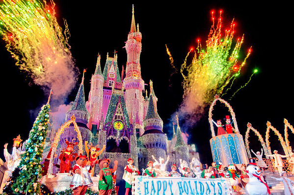 <b>Walt Disney World Resort Magic Kingdom Mickey's Very Merry Christmas Party</b>  Fireworks at the conclusion of the Celebrate the Season stage show during Mickey's Very Merry Christmas Party! For more Disney Christmas content, check out: http://www.disneytouristblog.com/tag/christmas/